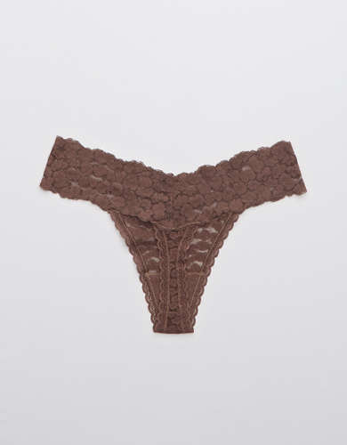 Aerie Animal Lace Thong Underwear