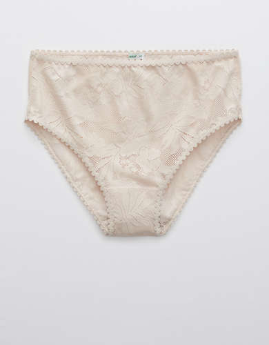 Aerie Cheetah Lace High Waisted Bikini Underwear