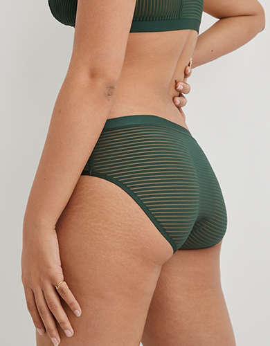 Aerie Striped Mesh Crossover Boybrief Underwear