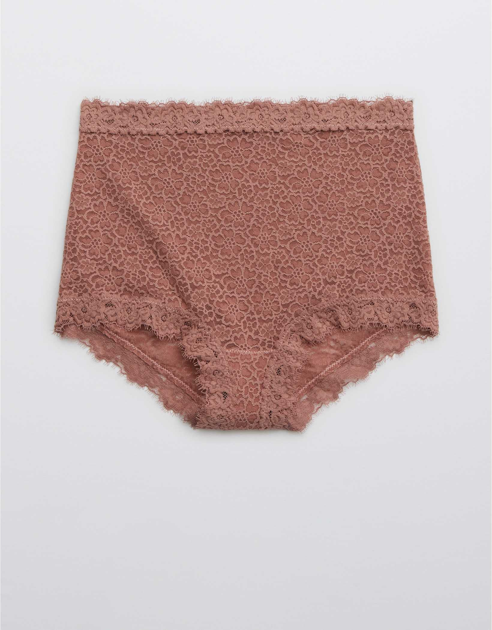 Aerie Eyelash Lace High Waisted Boybrief Underwear