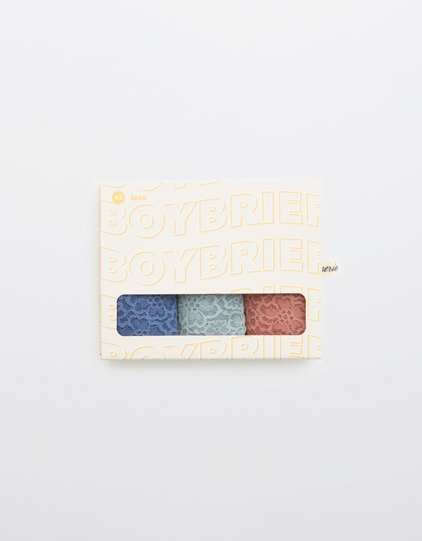 Aerie Eyelash Lace Boybrief Underwear 3-Pack