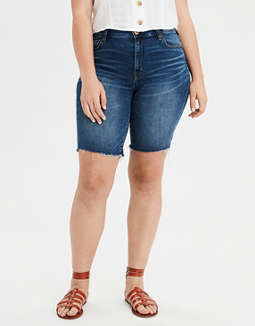 AE Ne(X)t Level High-Waisted Denim Skinny Bermuda Short