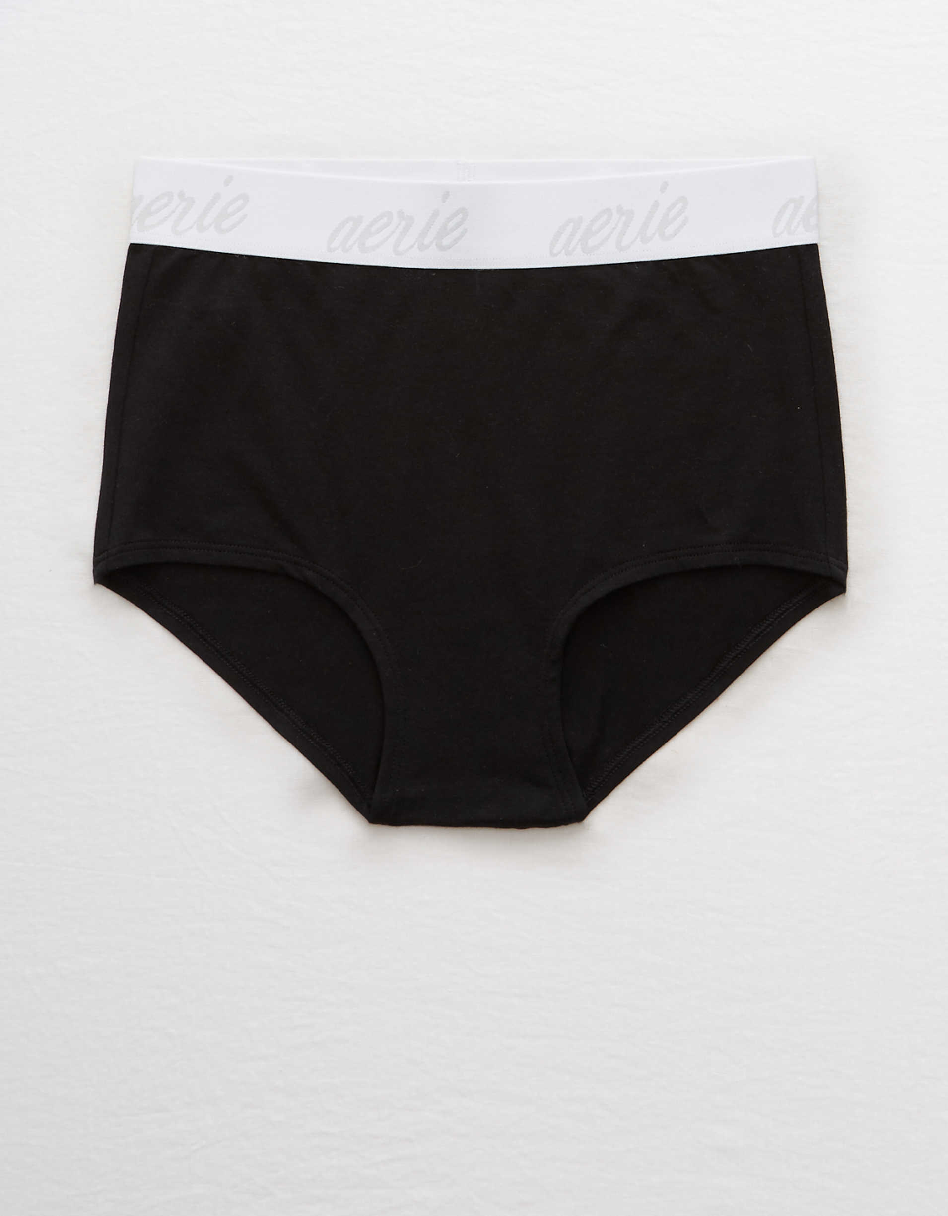 Aerie Cotton Logo High Waisted Boybrief Underwear
