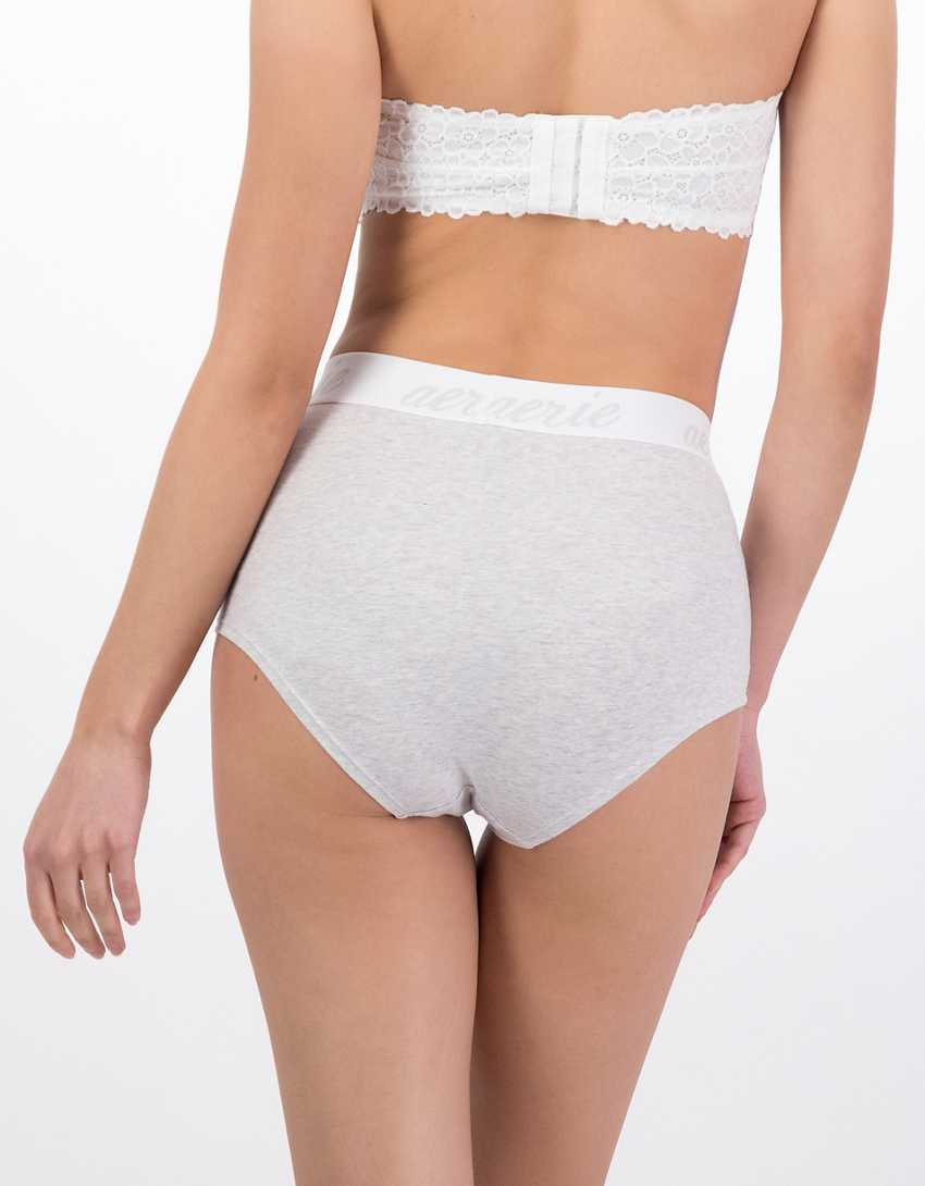 Aerie Cotton Logo High Waisted Boybrief Underwear
