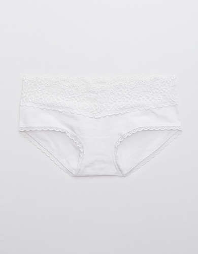 Aerie Cotton Eyelash Lace Boybrief Underwear