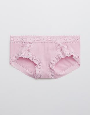 Aerie Ribbed Retro Lace Boybrief Underwear