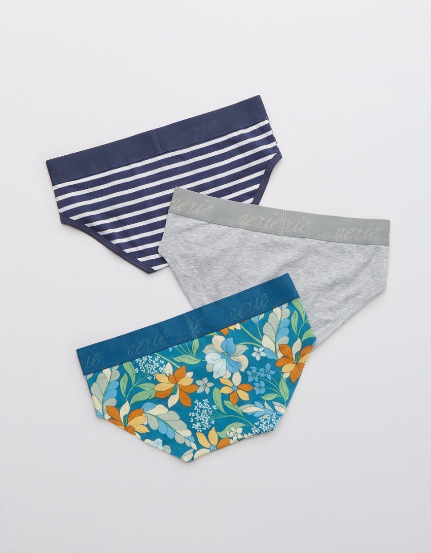 Aerie Cotton Logo Boybrief Underwear 3-Pack