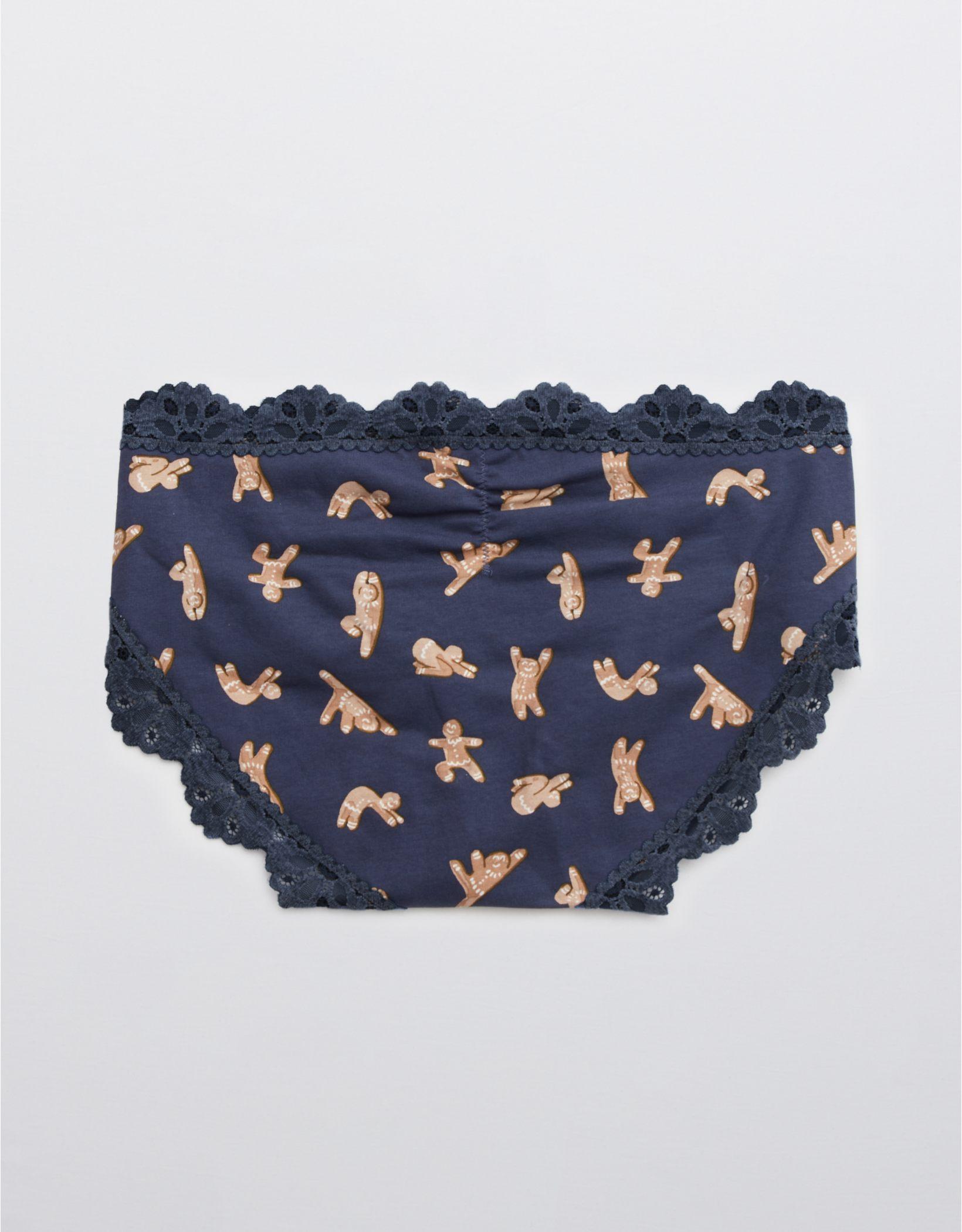 Aerie Cotton Snowday Lace Boybrief Underwear