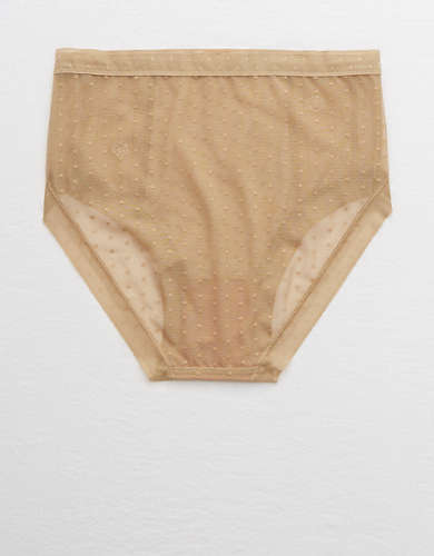 Aerie POP! Lace High Cut Bikini Underwear