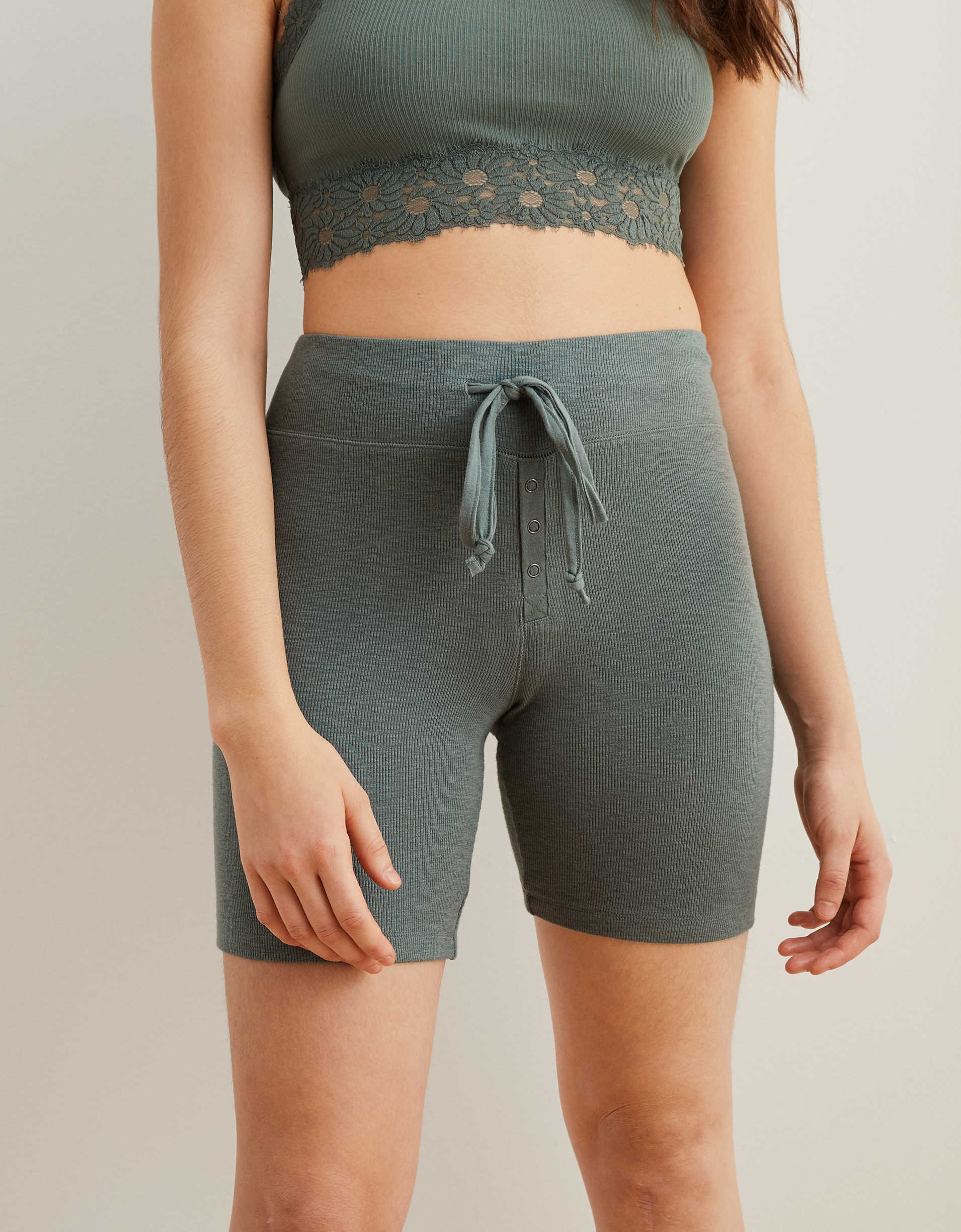 Aerie Real Soft® Ribbed Sleep Short