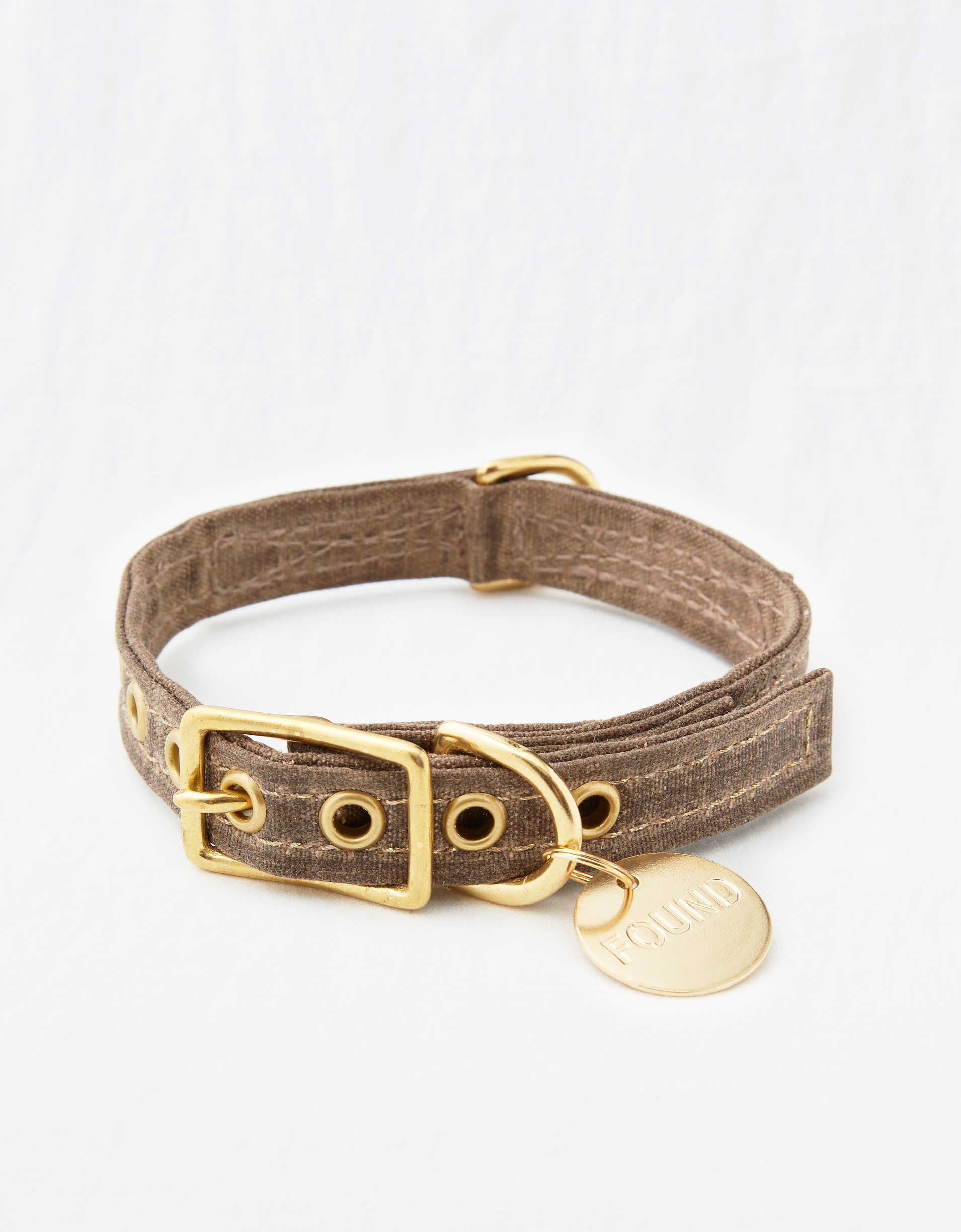 Found My Animal Brown Canvas Collar
