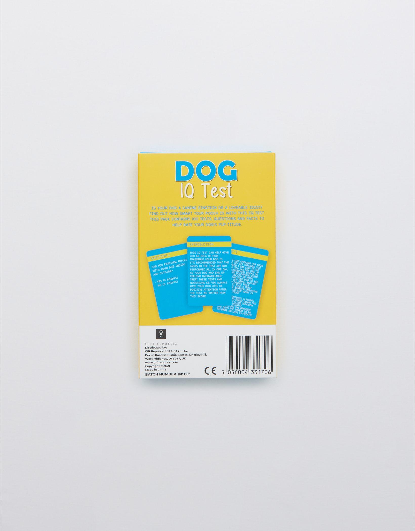Dog IQ Test Cards