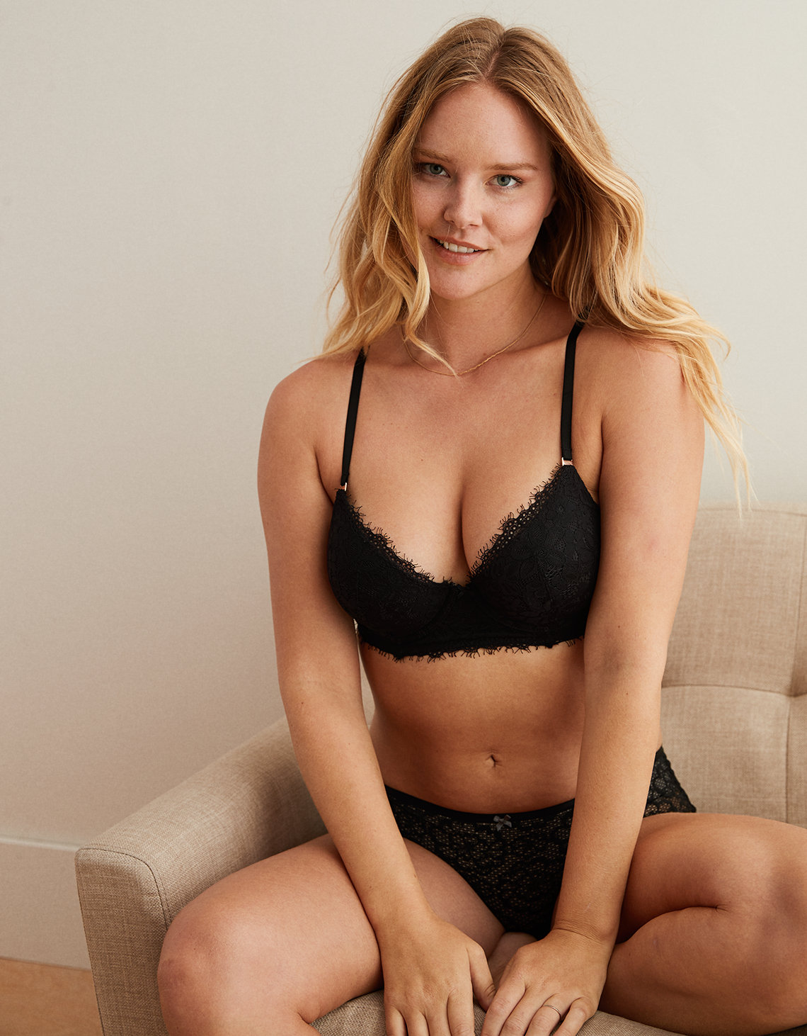 c7d2358fd145a Aerie Real Power Plunge Push Up Bra. Placeholder image. Product Image