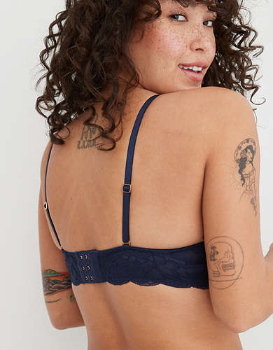 Aerie Real Power Plunge Lace Push Up Bra