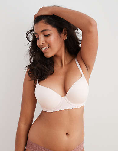 Aerie Real Sunnie Lace Demi Push Up Bra