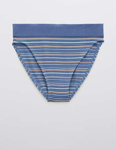 Aerie Ribbed Seamless High Cut Bikini Underwear