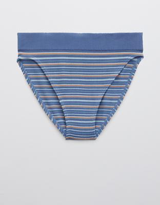 Трусики-бикини из рифленой ткани с высоким вырезом Aerie Seamless