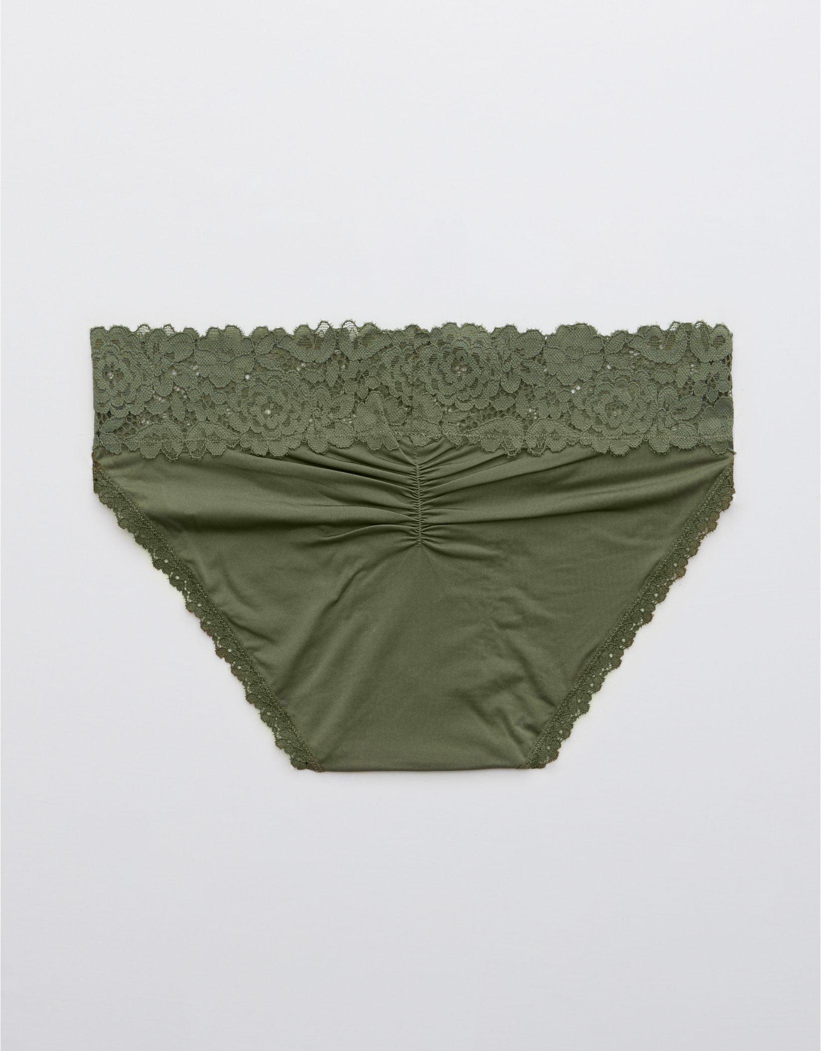 Aerie Bluegrass Lace Shine Bikini Underwear