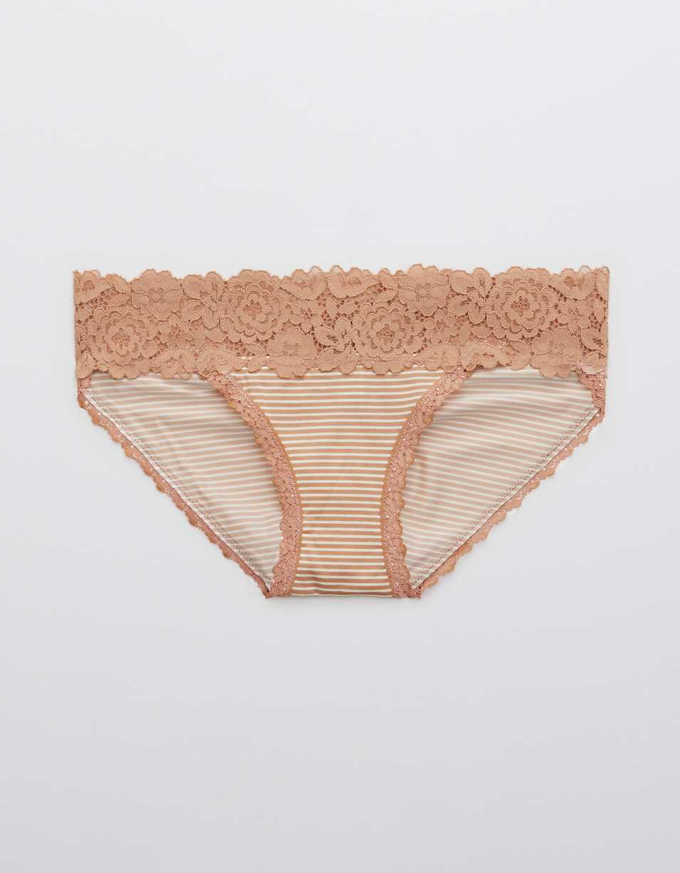 Aerie Bluegrass Lace Shine Bikini Underwear