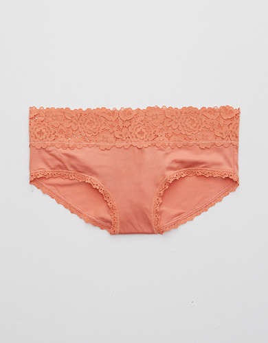 Aerie Bluegrass Lace Shine Boybrief Underwear