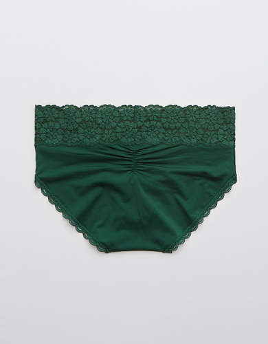Aerie Sugar Cookie Lace Shine Boybrief Underwear