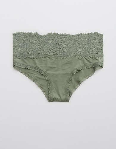 Aerie Shine Far Out Lace Cheeky Underwear