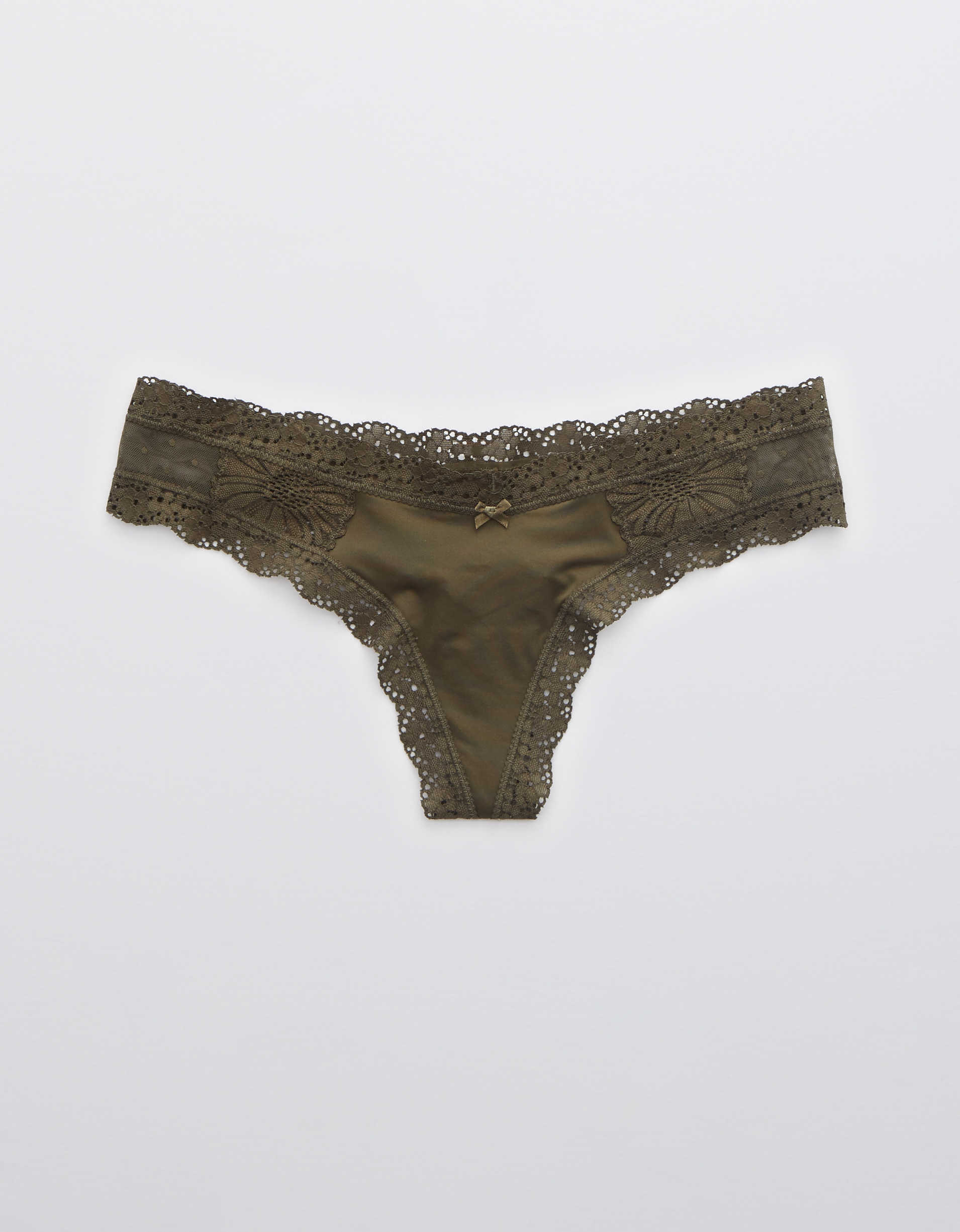 Aerie Garden Party Shine Thong Underwear