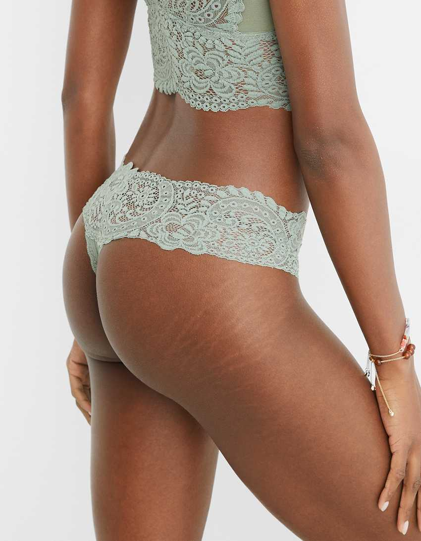 Aerie Shine Far Out Lace Thong Underwear