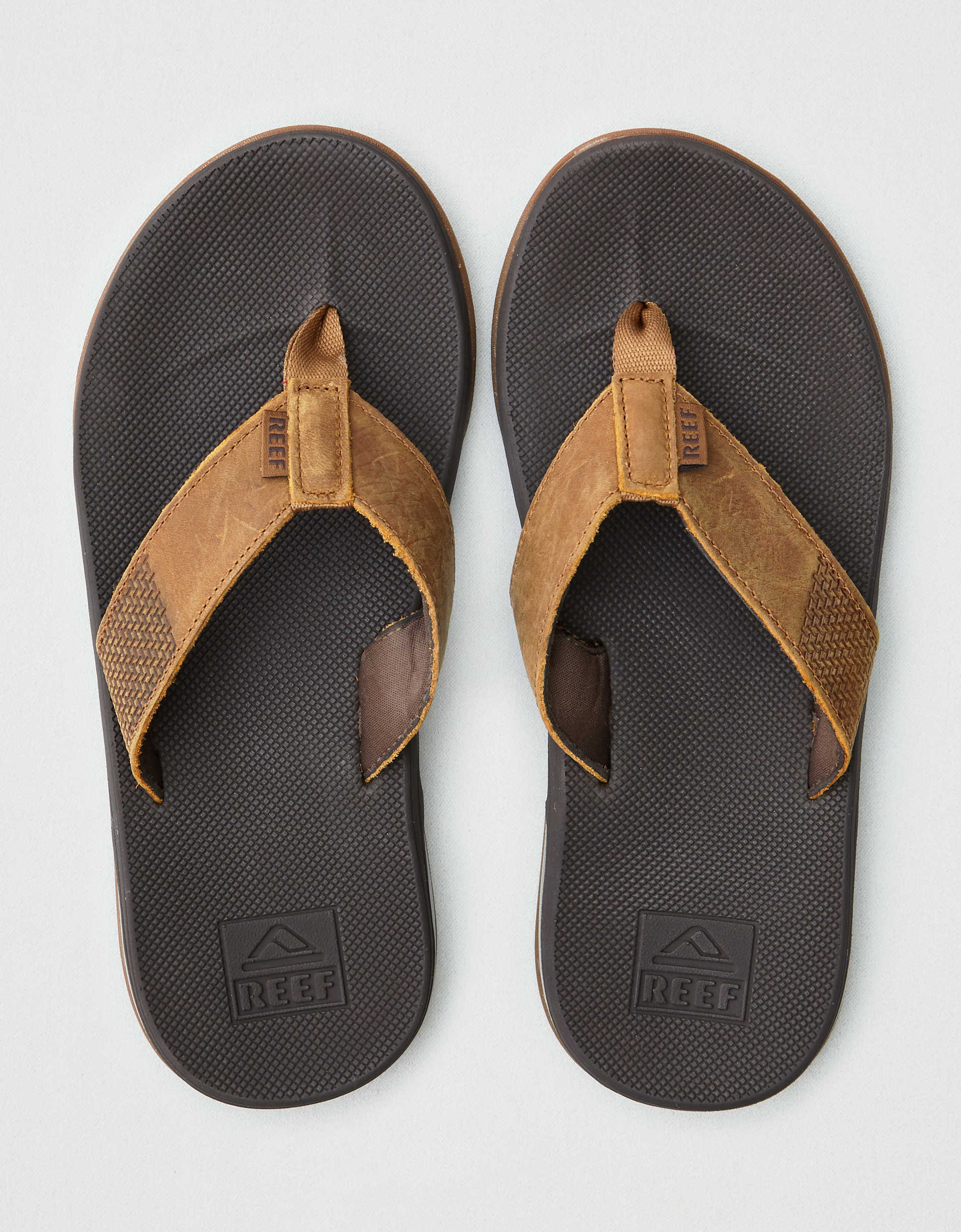 Reef Men's Fanning Low Leather Flip Flops