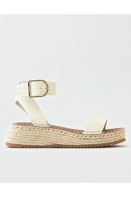 Vintage Sandals | Wedges, Espadrilles – 30s, 40s, 50s, 60s, 70s Circus by Sam Edelman Kennedy Platform Sandal Womens White 9 12 $70.00 AT vintagedancer.com
