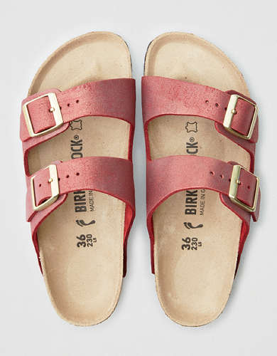 Birkenstock Arizona Washed Metallic Sandal