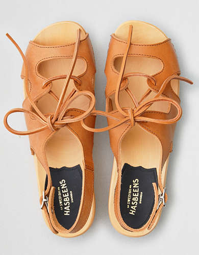 Swedish Hasbeens Lace Up Sandal