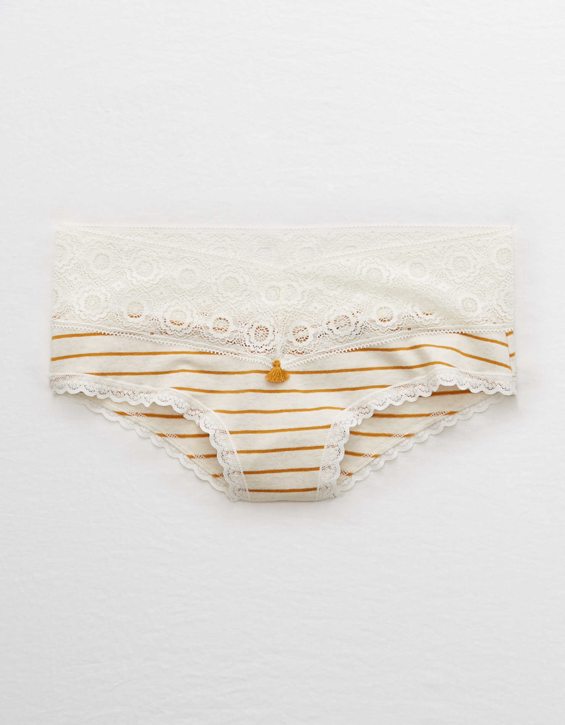 Aerie Cotton Lace Trim Cheeky Undie