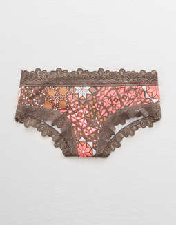 Aerie Lace Trim Cheeky Undie