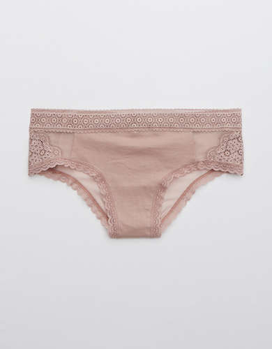 Aerie Queens Lace Mesh Cheeky Underwear