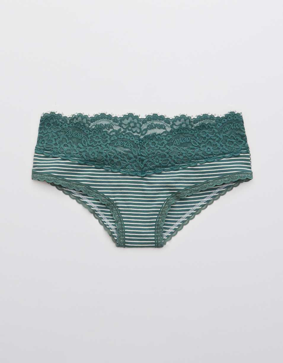 Aerie Cotton Eyelash Lace Cheeky Underwear