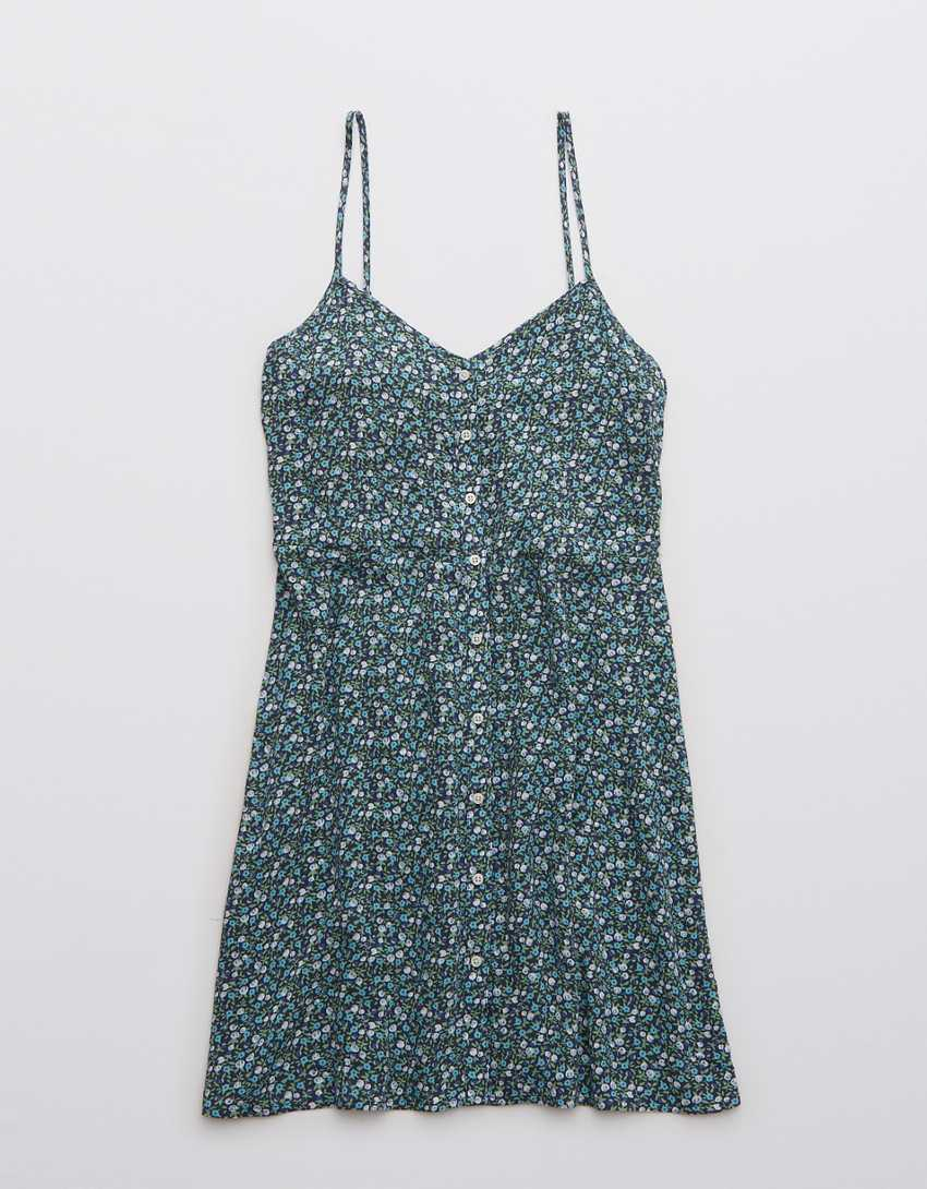Aerie Button Front Mini Dress