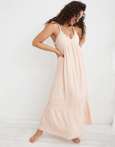 Aerie Low Back Maxi Dress