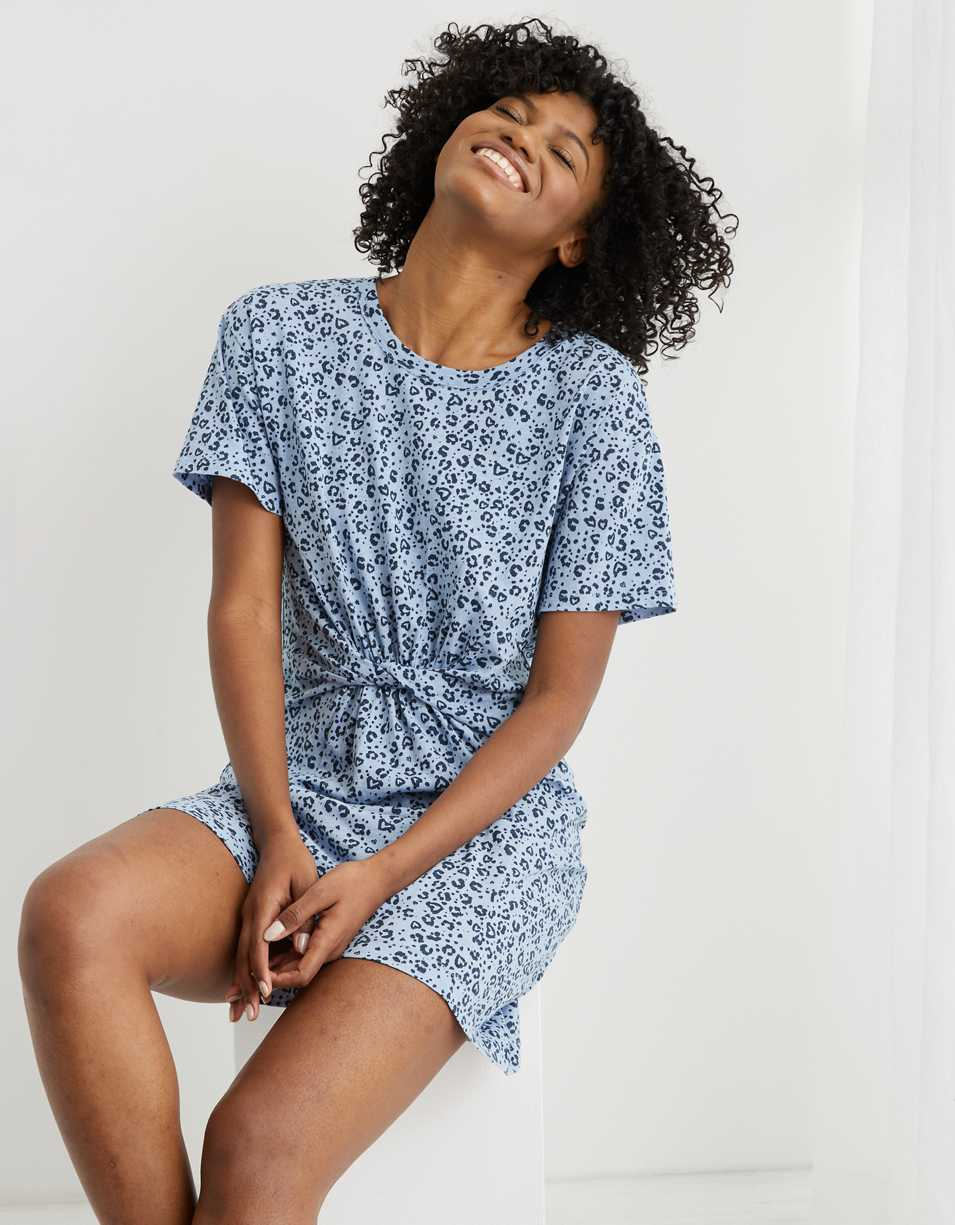 Aerie Knot Front T-Shirt Dress
