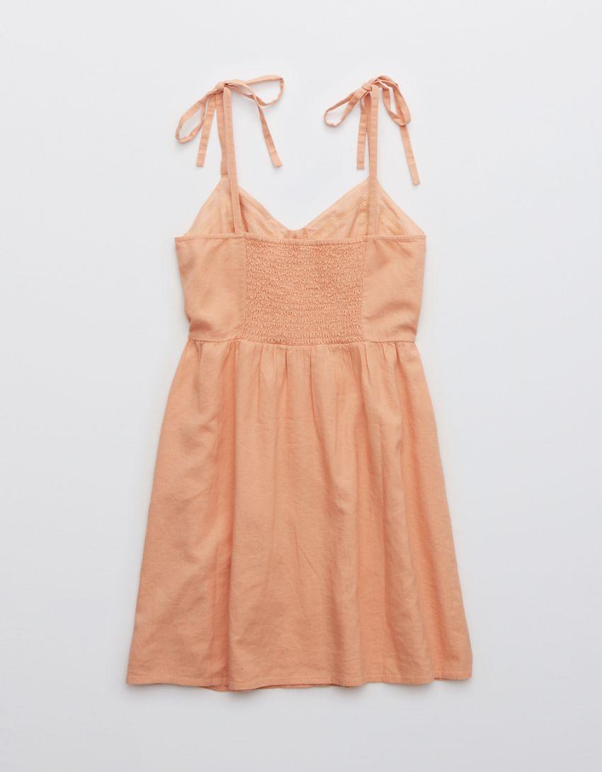 Aerie Linen Corset Dress