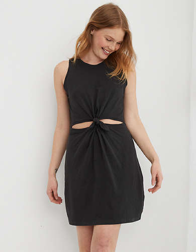 Aerie Cut Out Knot Dress