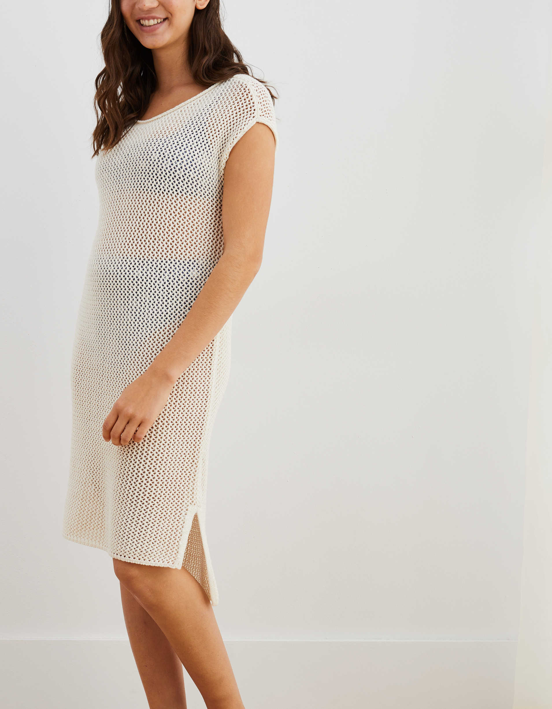 Aerie Mesh T-Shirt Cover Up