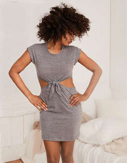 aerie-knot-t-shirt-dress by american-eagle-outfitters