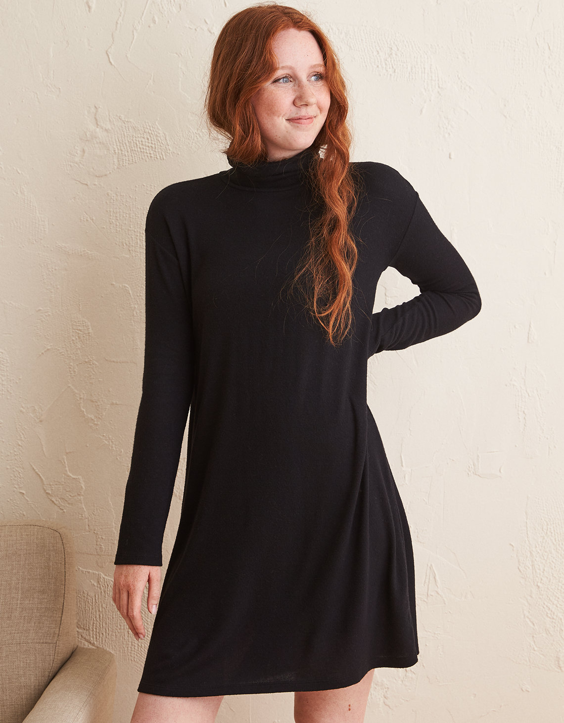 Aerie Plush Turtleneck Dress | Tuggl