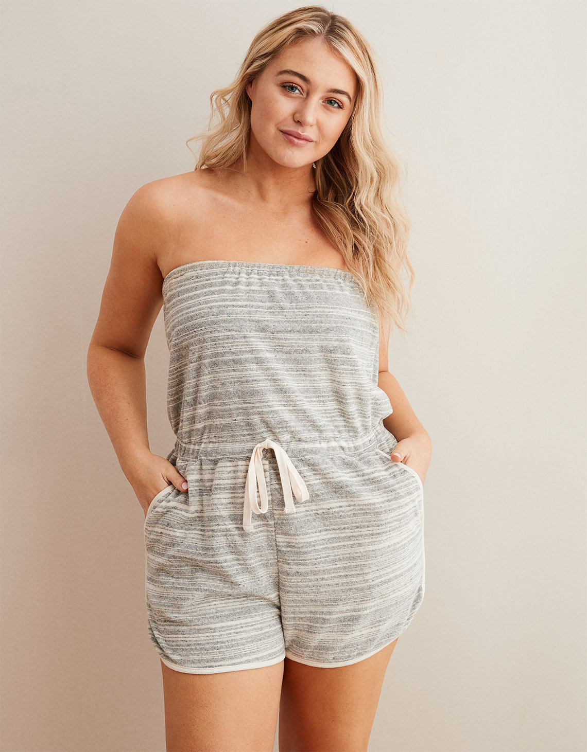 5741a7277d7a Aerie Terry Romper. Placeholder image. Product Image