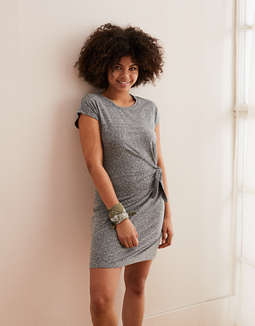 Aerie Side Tie Knot Dress