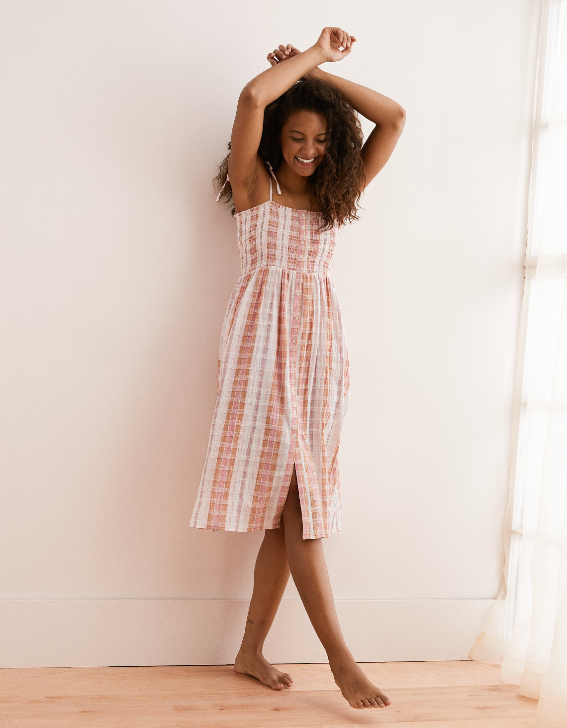 910d018b360d Aerie Smocked Button Down Dress. Placeholder image. Product Image