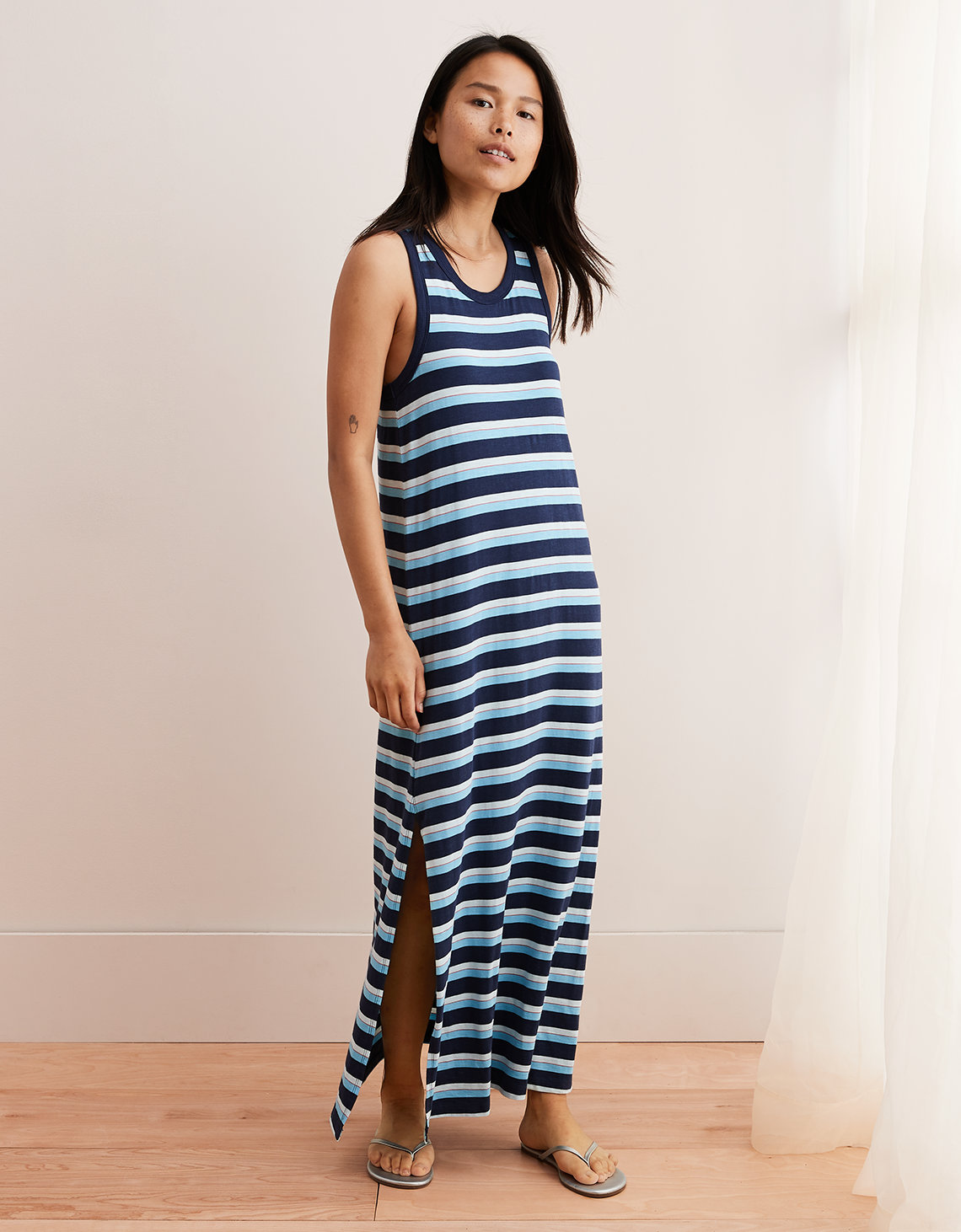 c1e4f574422 Aerie Knit Maxi Dress, Navy | American Eagle Outfitters