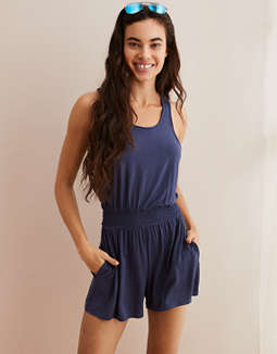 Aerie Easy Romper by American Eagle Outfitters