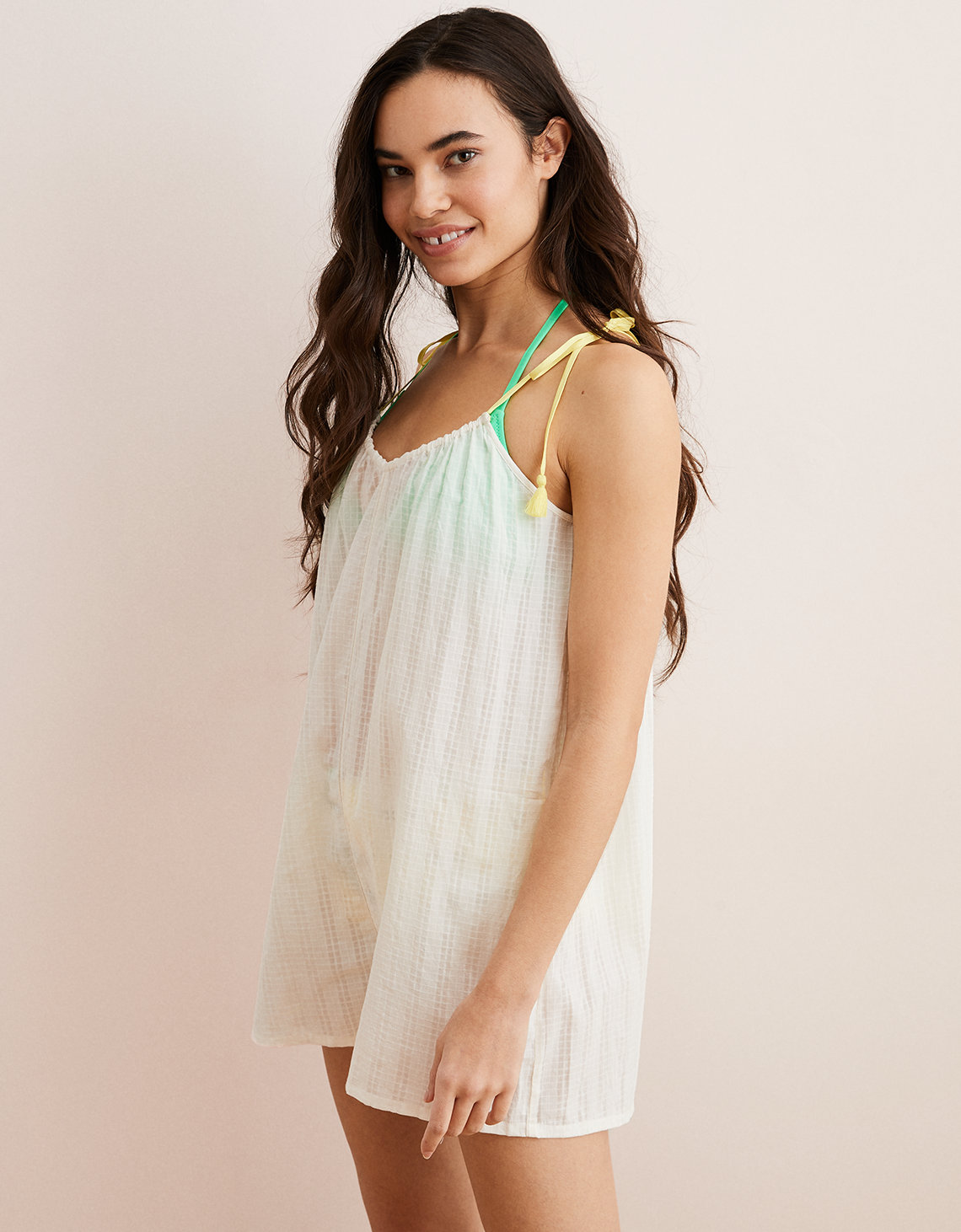 1a9ab4dd8e439 Aerie Romper, Natural   American Eagle Outfitters